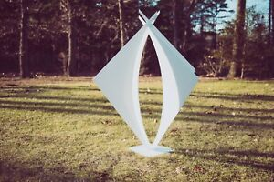 Bianca Large Modern Outdoor Abstract Sculpture in White Made to order