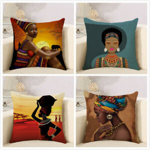 Decoration Art Tribal African Women Lifestyle Throw Pillow Case Cushion Cover