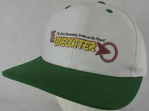 Line Cutter Archery Arrows White Green Snapback Adjustable Hat Cap