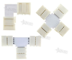 Connector Female 4 Pins 2 Way L/T/Cross Shape for LED Strip Light RGB 5050