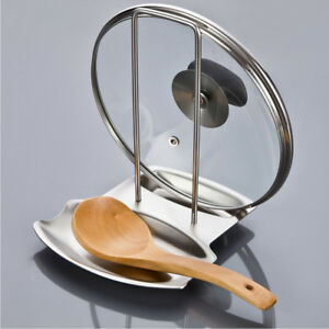 Stainless Steel Oven Top Pan Lid & Spoon Rest -dishwasher safe and durable ^l^x