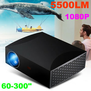5500 Lumens Projector 3D HD 1080P Home Theater Cinema Multimedia LED LCD HDMI US