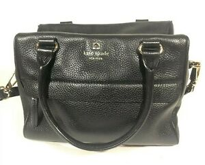 Kate Spade Womens Black Cross Body Shoulder Bag New York Pebbled Casual EUC