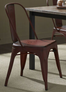 Liberty Furniture Vintage Dining Series Bow Back Dining Side Chair in Red