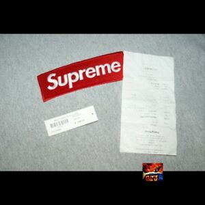Supreme FW13 Box Logo Hooded Sweatshirt Heather Grey L Large Pre-Owned WReceipt
