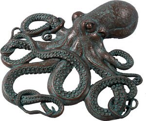 Awesome Octopus Wall Decor Figure Bronze Finish 32