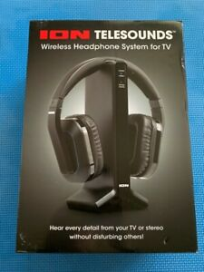 ION Audio Telesounds Wireless Headphone System For TV - Black