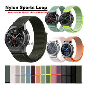 Woven Nylon Sport Loop Watch Band Strap For Samsung Gear S3 Classic Frontier