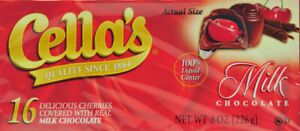 Cellas Covered With Real Milk Chocolate 8 Oz