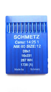 50 SCHMETZ NEEDLES CANU 14:20 DBX1 16X231 287 WH FOR INDUSTRIAL SEWING MACHINE GBP 11.99