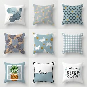 Home Case Cushion Pillow Throw Decor Sofa Waist Polyester 18#x27;#x27; Cover $2.56