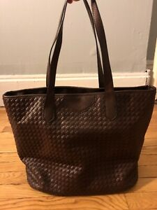 Brown Medium Leather Tote With Wallet insert