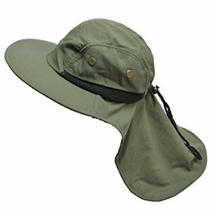 Light & Breathable Men's Wide Brim Outdoor Sun Hat for Fishing & More