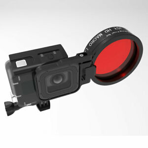 Red Filter 58mm 24X Close-up Magnifier Macro Lens Kit For GoPro Hero7 6 5 Camera