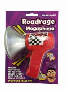 Roadrage Megaphone Novelty Car Driving Prank Joke Toy Gift Funny Adults Only!
