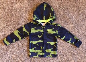 Under Armour AO Future Camo Full Zip Hoodie Baby Toddler Size 4T Blue  Green