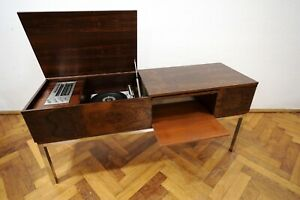 LUXUS 60s TELEFUNKEN PALISANDER STEREO RECORD PLAYER RADIO German Modern Design
