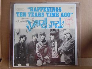 Yardbirds Led Zeppelin Jimmy Page J. Beck Autographed Signed 45 Picture Sleeve