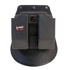 Fobus 6909NDRP Double Mag Pouch 9mm, 357, and 40 Caliber, Roto Paddle, Black