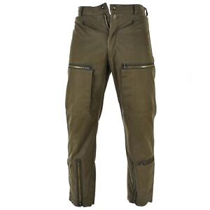 Genuine Italian army Air force combat trousers military pants brown