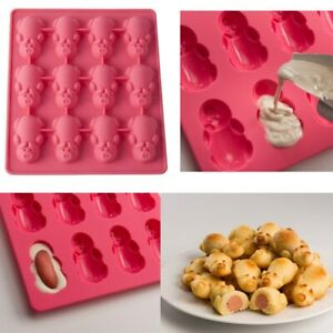 DIY 3D Silicone Pig Pattern Fondant Mold Cake Chocolate Sugarcraft Baking Mould