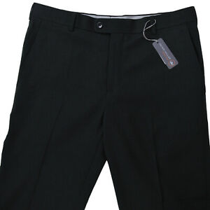 NEW Peter Millar Mens Pants 34x34 Black Crown Sport Golf Flat Front $145
