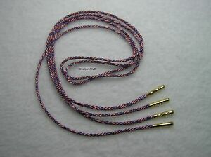 Stars N Stripes or Red 550 Paracord Shoelace Boots Shoe~A Bullet Nose Aglets W19