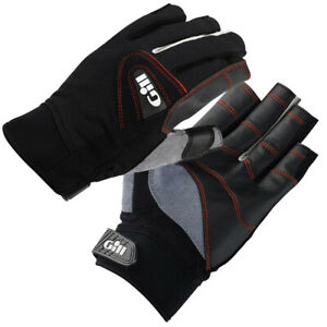 NEW! Gill Championship Sailing Short Finger Gloves 7242 Color Black X-Large