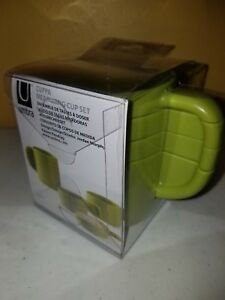 UMBRA MEASURING CUP SET, STACKABLE 1/4, 1/3, 1/2 & 1 CUP SET OF 4, Avocado, NEW!