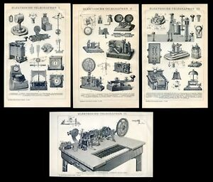 Electric telegraph.... 2 Antique lithographS...1898 $18.00