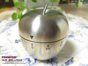 Mechanical Kitchen Cooking Timer 60 Minutes Apple Shaped Count Down Loud Alarm