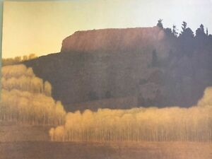 RUSSELL CHATHAM Pencil Signed FALL NEAR DEADMANS GULCH Numbered 375 LITHOGRAPH $99.00