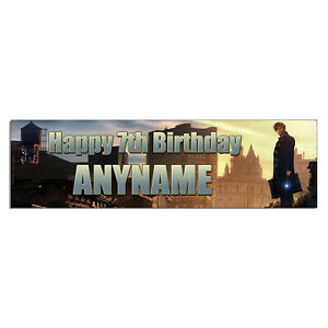 Personalized & Custom Printed Fantastic Beasts Birthday Party Banner Poster