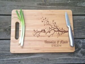 Personalized Engraved Cutting Board Wedding Gift Anniversary Engagement Birthday