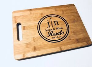 Wedding Gift Engraved Cutting Board Personalized New Home Moving House Apartment