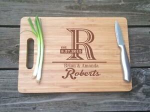 Personalized Cutting Board Engraved Wedding Gift Anniversary Gift Chef Cook
