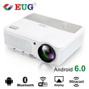 HD Video LCD Wireless Home Theater Projector with Bluetooth Android Multimedia