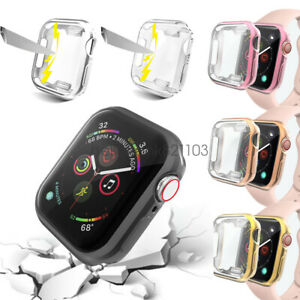 iWatch 40mm 44mm Screen Protector Case Snap On Cover for Apple Watch Series 5 4