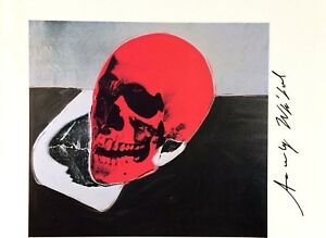 ANDY WARHOL AUTHENTIC HAND SIGNED SIGNATURE * SKULL *  PRINT  W C.O.A.