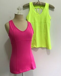 TWO 90 Degree Reflex Yoga Tops Size Small Womens One Pink and One Yellow