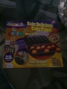 Cake Pops Baking Kit Pan & Accessories As Seen on TV Bake Delicious wSticks