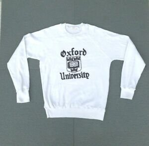 Vtg 80s OXFORD UNIVERSITY Sweatshirt Athletic Phys Ed Workwear
