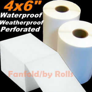5-10000 Direct Thermal Labels Roll 4x6'' Shipping Postage Zebra ZP450 2844