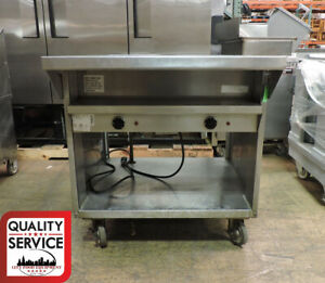 Randell 3612M Commercial Electric Individual Sealed Well  2 Comp Steam Table