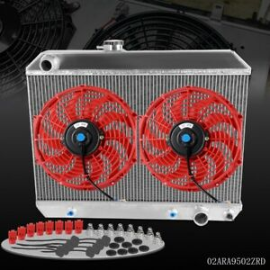 Gplus 1965 1966 1967 For Pontiac GTO Tempest LeMans Aluminum Radiator 12quot; Fan