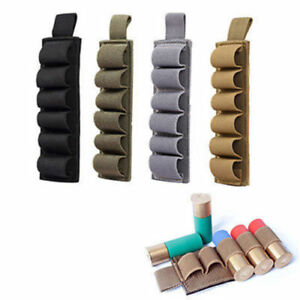 Tactical Shotgun Cartridge Pouch Molle Shell Holder 6 Rounds Ammo Pouch