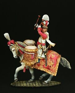 Tin soldier Museum (TOP) Drummer of Polish Lancers 54 mm Napoleonic Wars
