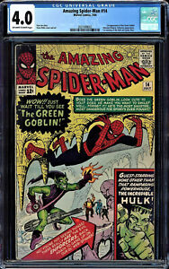 AMAZING SPIDER-MAN #14 CGC 4.0 OWW 1ST APPEARANCE OF THE GREEN GOBLIN 2037499002