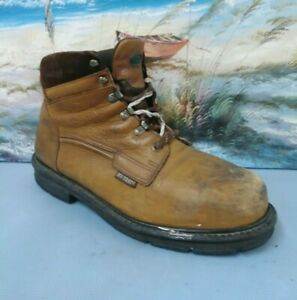 Hy-Test Steel Toe Mens brown Leather  Work  Boots  SIZE 13 EEE    23056