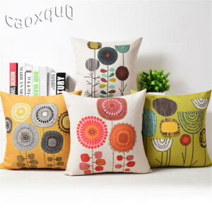 Decor Home Cover Dandelion Sofa Case Cotton Cushion Linen Throw Pillow Idyll $2.97